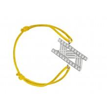 Discrétion Bakwani7 Or diamants – Bracelet Cordon