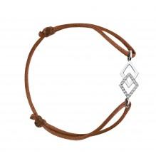 Justice Bakwani7 Or diamants – Bracelet Cordon