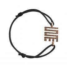 Travail Bakwani7 Or diamants noirs – Bracelet Cordon