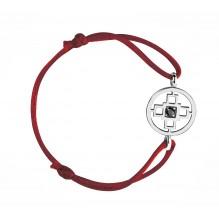 Intelligence Bakwani7 Gold black central diamond – Cord bracelet