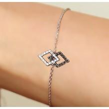 Justice Bakwani7 Or diamants mixtes – Bracelet