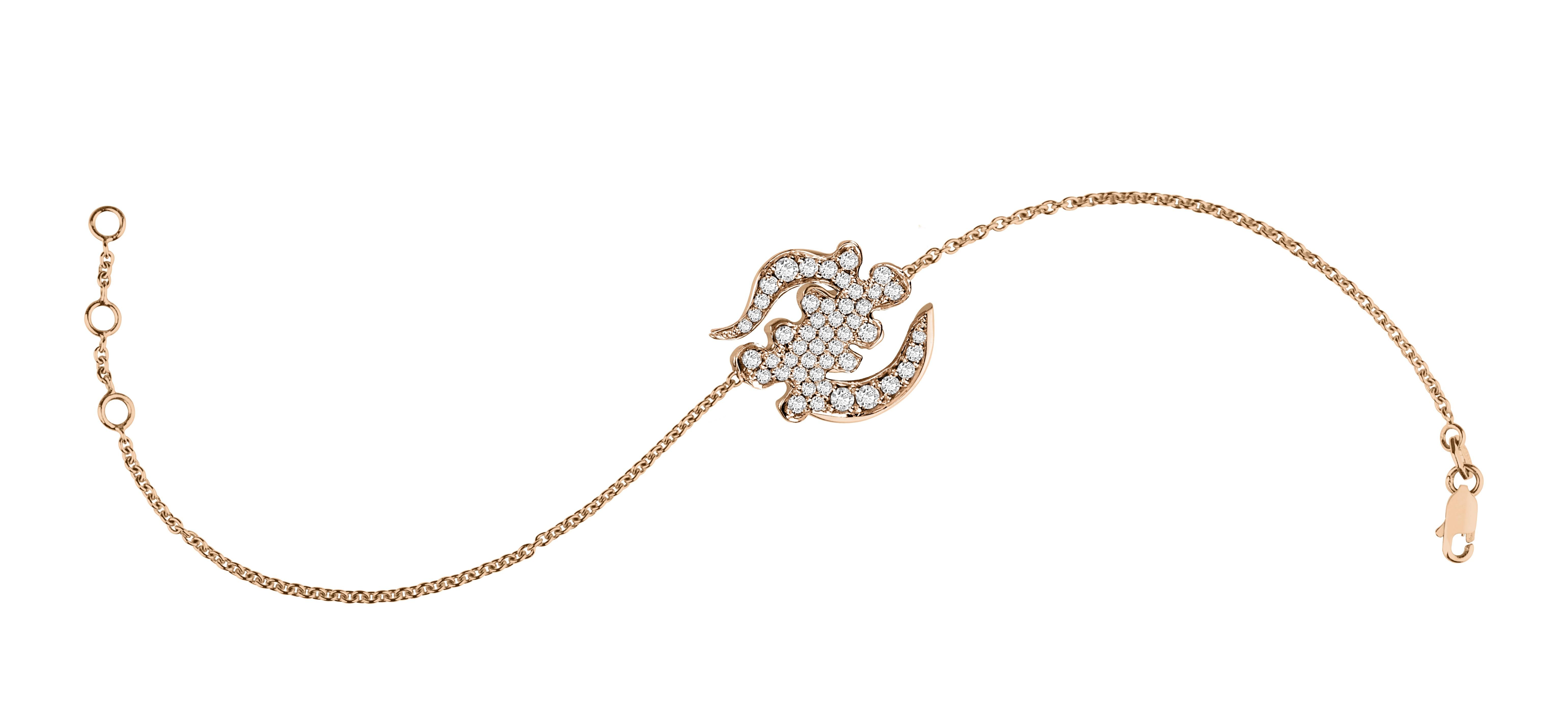 Divinité Bakwani7 Or diamants - Bracelet