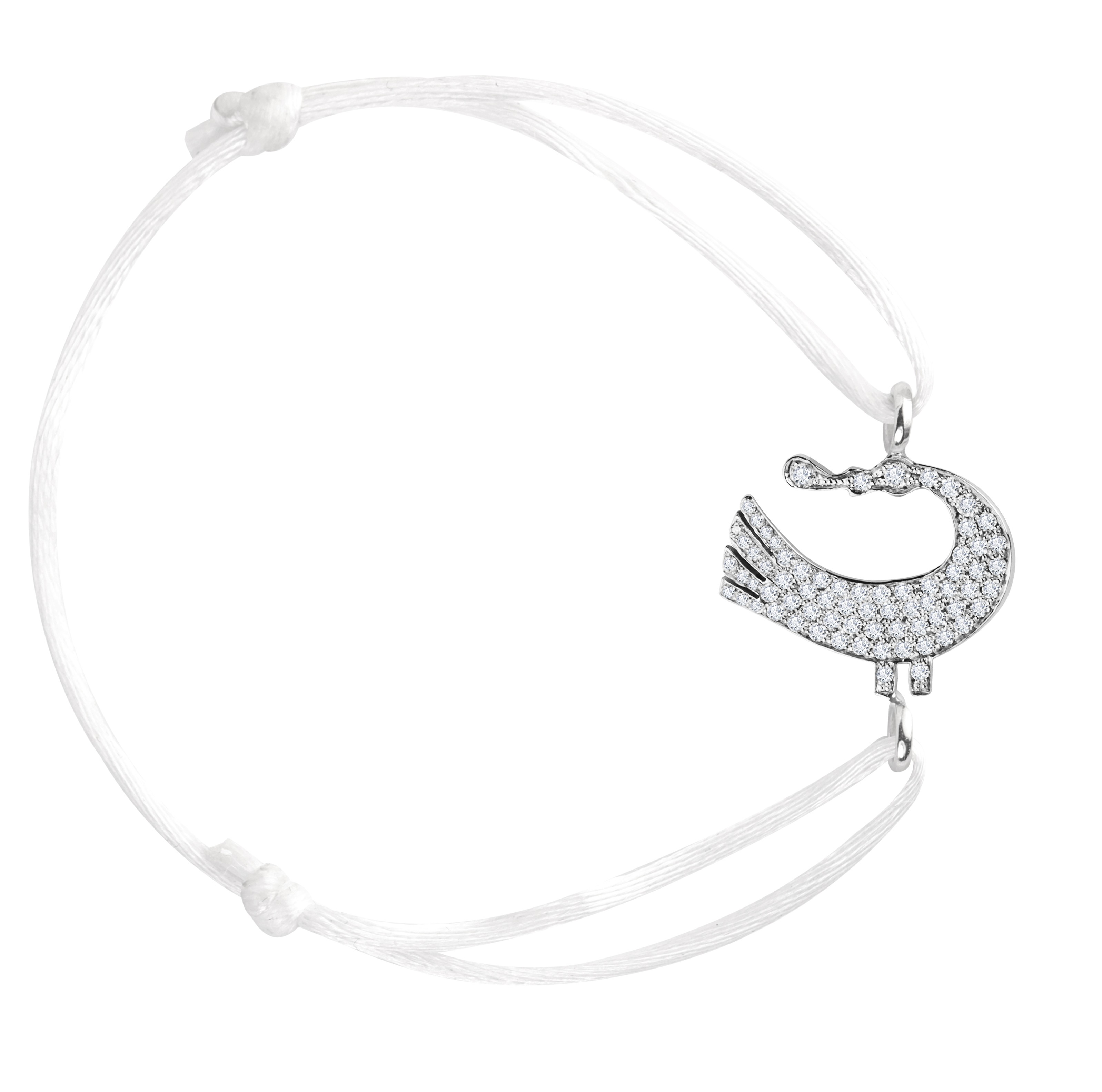 Sagesse Bakwani7 Or diamants – Bracelet Cordon