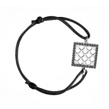 Moralité Bakwani7 Or diamants noirs – Bracelet Cordon