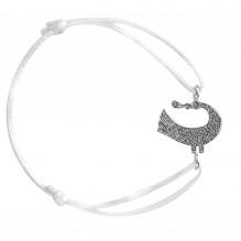 Sagesse Bakwani7 Or diamants noirs – Bracelet Cordon