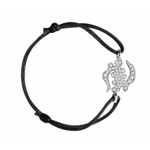 Divinité Bakwani7 diamants - Bracelet cordon