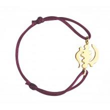Divinité Bakwani7 Or - Bracelet cordon