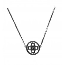 Intelligence Bakwani7 Or diamant central noir – Collier