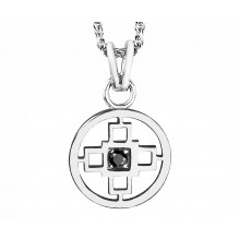 Intelligence Bakwani7 Or diamant central noir – Pendentif