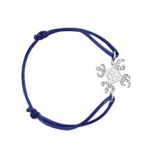 Solidarité Bakwani7 Or diamants – Bracelet Cordon