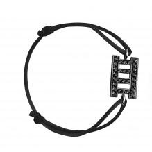 Spiritualité Bakwani7 Or Diamants Noirs - Bracelet Cordon